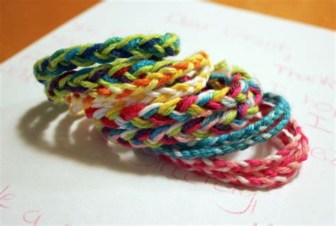 Handmade Yarn Bracelets - send you 5 braided yarn bracelets handmade by a