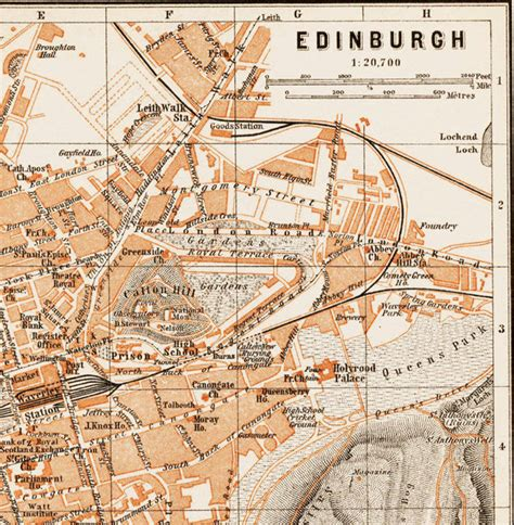 map of edinburgh scotland map of edinburgh scotland 1890 maps and vintage