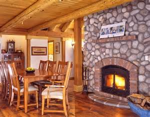 Log Cabin With Wood Burning Stove by Log Cabin Wood Stove 171 Real Log Style