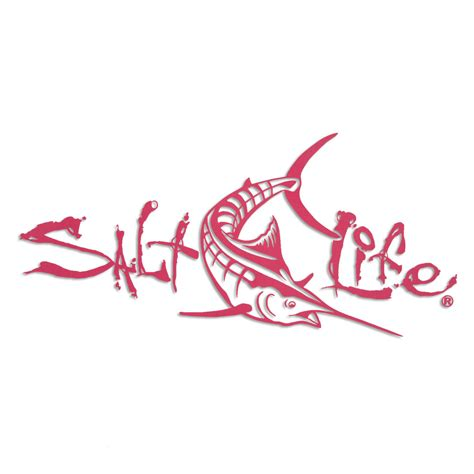 salt life decal pink 12 quot salt life signature deep marlin decal