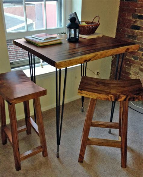 Dining Table With Bar Stools High Bar Table Bar Stools Custom By Impact Imports Industrial Indoor Pub And Bistro