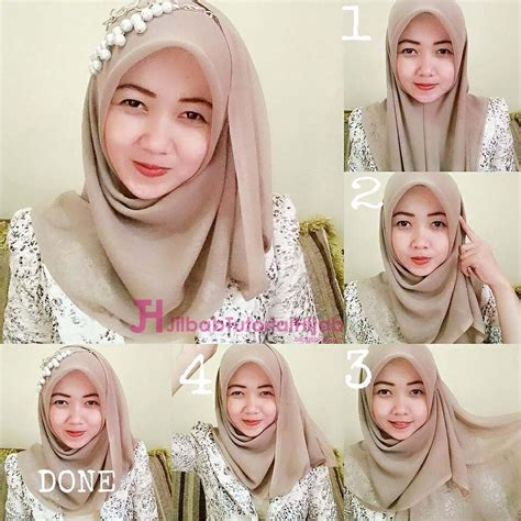 tutorial jilbab segiempat yang simple tutorial hijab simple segi empat paris
