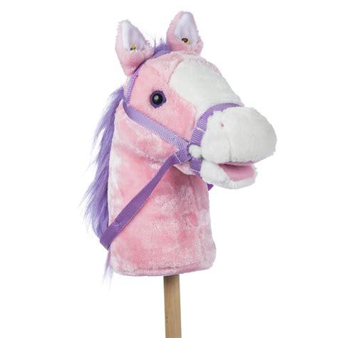 pink stick horse rockin rider