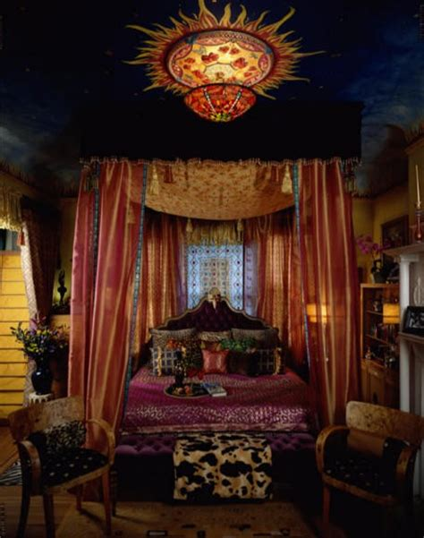Gypsy Bedroom Decor | eye for design decorating gypsy chic style