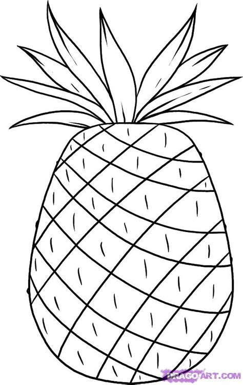pineapple coloring page 301 moved permanently