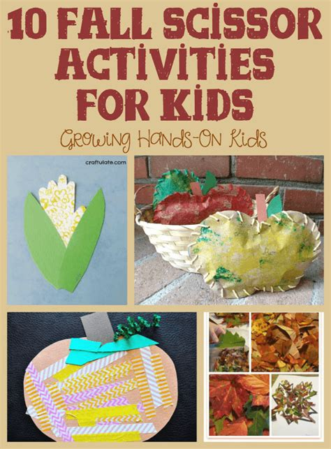 fall themed crafts for fall activities for cutting practice lesson plans
