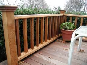 Outdoor Balusters Robust Wood Deck Railing Designs Ideas Deck Rail Design