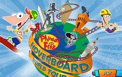 phineas and ferb backyard beach game phineas and ferb hoverboard world tour phineas and ferb