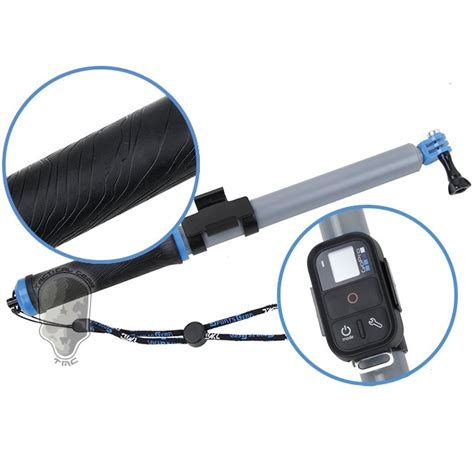 Diskon Tmc Handheld Stabilizer With Remote Slot For Gop xiaomi yi gratis tmc monopod floating extension pole with wireless remote