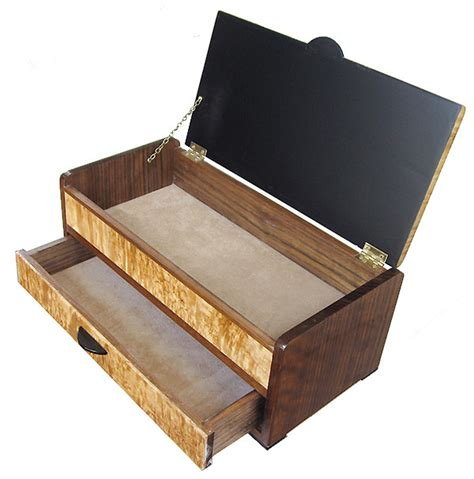 Wooden Box With Drawer by Handcrafted Wood Box With Drawer Decorative Wood Box