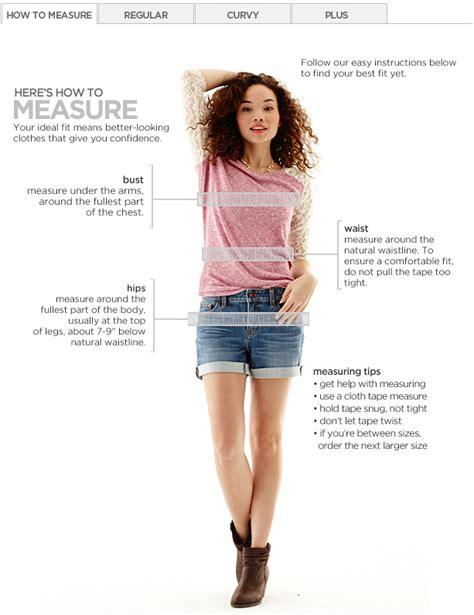size 5t measurements size charts measurements jcpenney