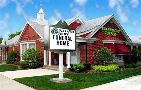 section funeral home starbucks opens in funeral home odd culture