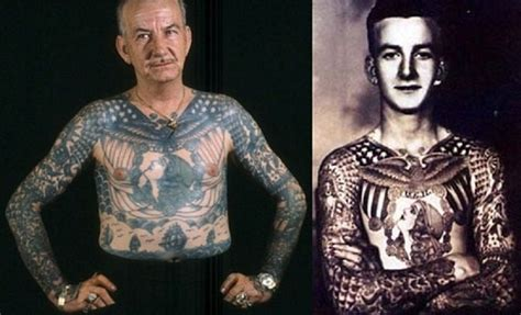 old people with different tattoos with pictures new
