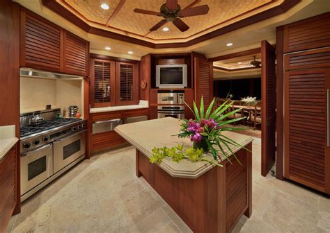 Tropical Kitchen Design by Bali House Tropical Kitchen Hawaii By Rick Ryniak