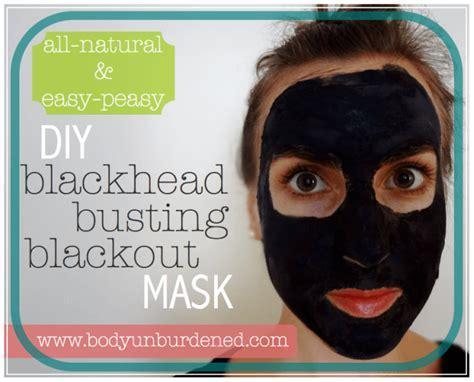diy all blackhead busting blackout mask