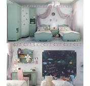 This Is A Formal Bedroom For Two Young Girls With Twin Beds And