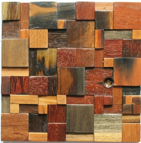 wood mosaic tile rustic wood wall tiles backsplash