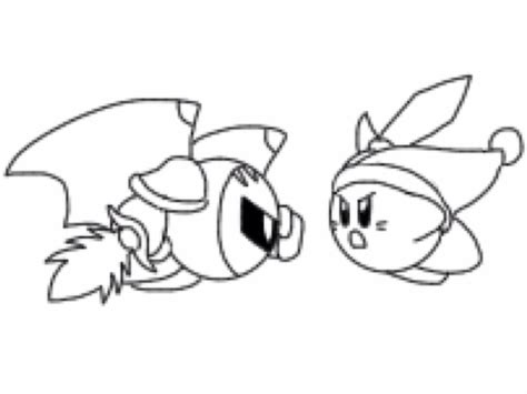 king dedede coloring page kirby vs meta knight by lunodevan on deviantart