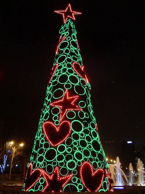 christmas tree madrid spain christmas trees around the