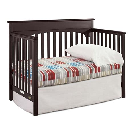 Graco Bed Rails For Convertible Cribs Graco 4 In 1 Convertible Crib In Espresso 04530 369