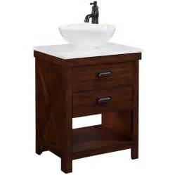 bathroom cabinet with sink and faucet shop style selections cromlee bark vessel single sink