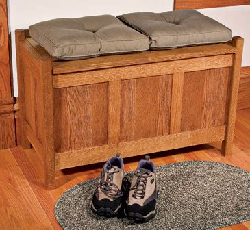 craft bench plans weekend project build an arts and crafts storage bench finewoodworking