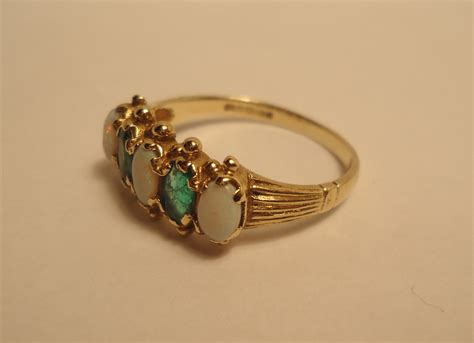 emerald opal ring collectors weekly