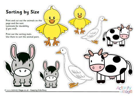 printable animal pictures for sorting free sorting worksheets for kindergarten printable