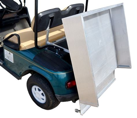 golf cart bed aluminum dumping cargo bed ds king of carts discount
