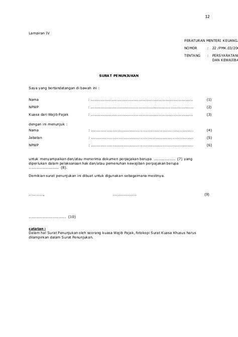 contoh surat kuasa mewakili wajib pajak 28 images etika pegawai