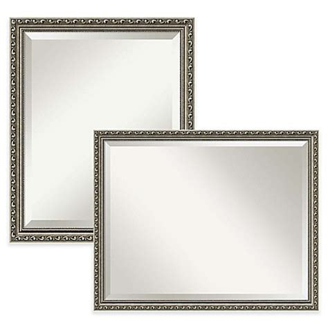 silver bathroom mirror amanti parisian bathroom mirror in silver bed bath beyond