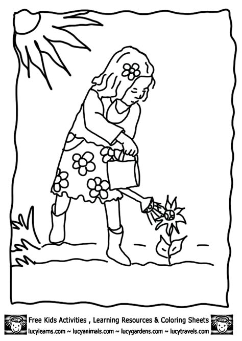 coloring pages of garden tools free gardening tools coloring pages