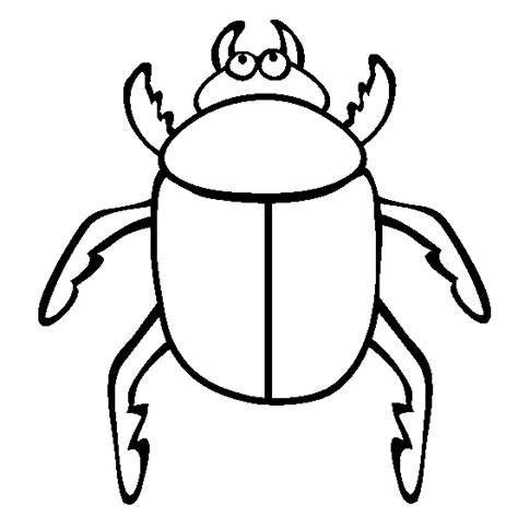 Beetle Insect Coloring Pages To Printable Bugs Coloring Pages