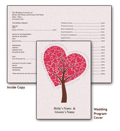 wedding program cover templates free printable wedding program templates you ll