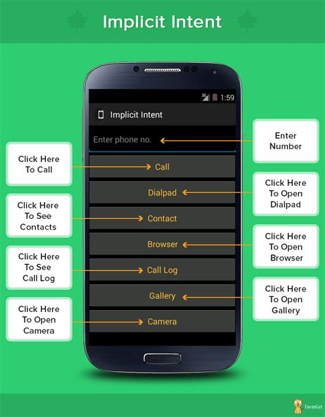 intent android implicit intent in android formget