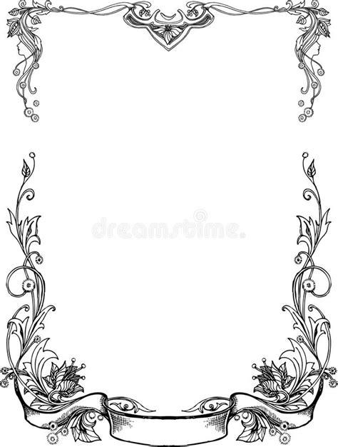 clipart bianco e nero pagine floreali in bianco e nero illustrazione vettoriale