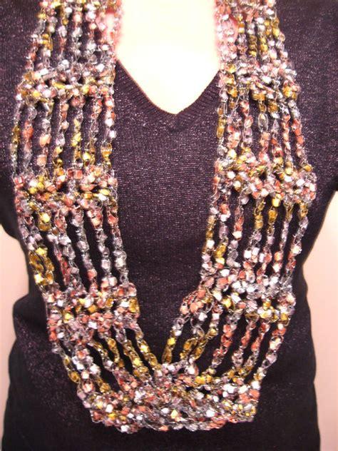 pattern for ladder yarn shawl crocheted trellis ladder yarn v cluster scarf pattern
