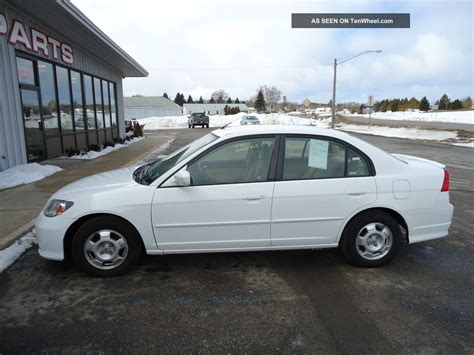 2004 honda civic hybrid sedan 4 door 1 3l cvt runs and