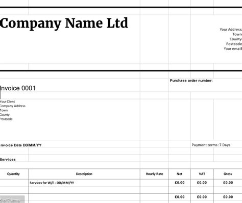 uk vat invoice template free downloadable invoice templates cloudaccountant co uk