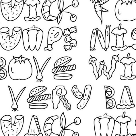 printable food fonts scrap food font