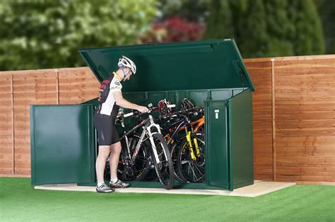 metal bike shed complete bike storage pack for 29 quot wheel