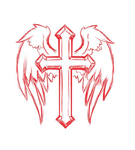 cross with wings tattoos designs cross wings 183 free image on pixabay