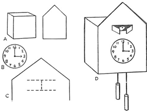 printable cuckoo clock template pin doubting thomas coloring pages on pinterest