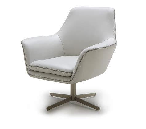 Leather Swivel Lounge Chair Dreamfurniture Divani Casa A 832 Modern Leather