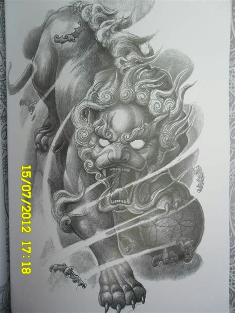 japanese foo dog tattoo designs pin by evgeniy on foo japanese oni