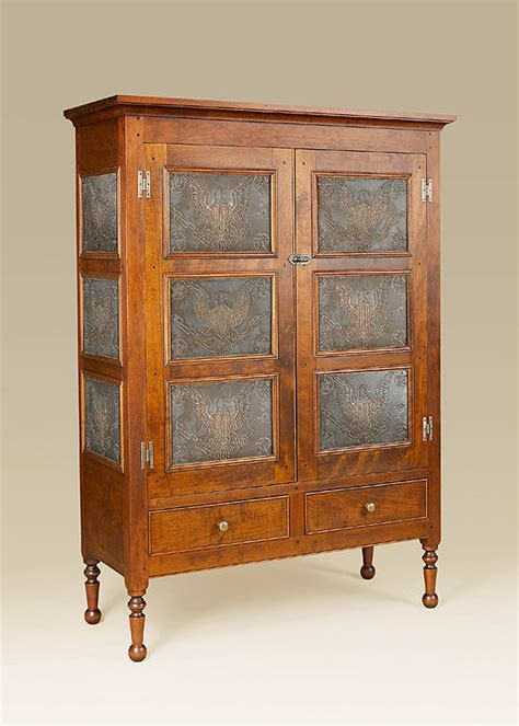 Who Created The Of The Cabinet by Pie Safe Cabinet Eagle Tins Cherry Wood