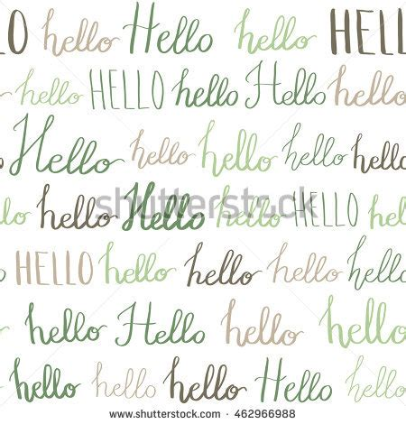 ink pattern words seamless vector pattern hello words ink stock vector