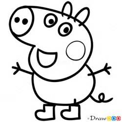 peppa pig drawing templates how to draw george 1 peppa pig