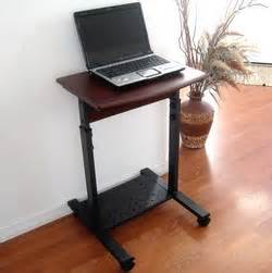 Small Desk For Laptop S2015 20 Quot Narrow Laptop Desk Height Adjustable Sit And Stand