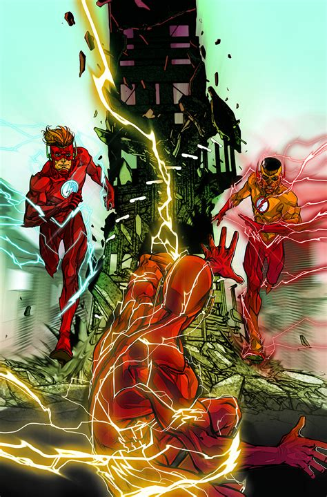 the flash rebirth dc comics spoilers review the flash 8 debuts wally